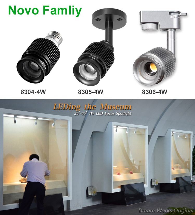 4W Sharp COB focusable dimmable gallery led track lighting for artist studio lighting & 4w Sharp Cob Focusable Dimmable Gallery Led Track Lighting For ... azcodes.com