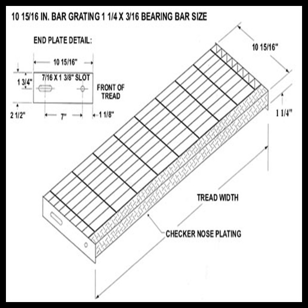 Hot Dipped Galvanized Industry Composite Steel Stairs