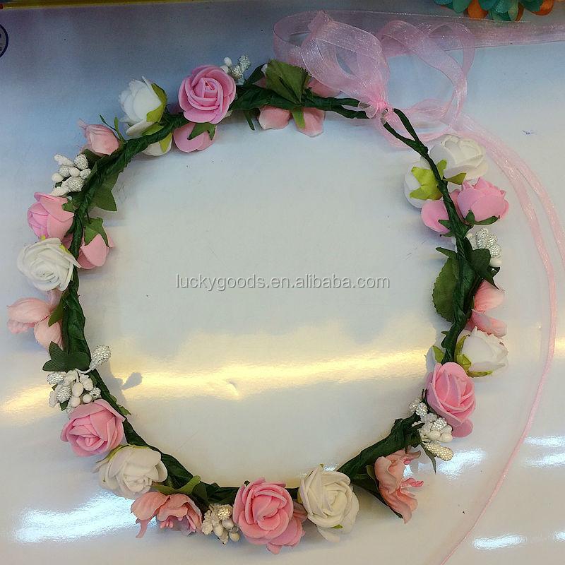 Hot Sale Artificial Rose Pe Flower Head Wreath For Sale