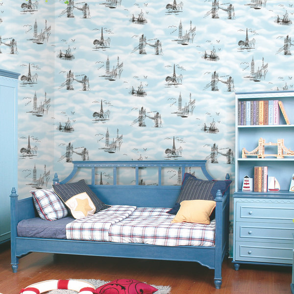 W7005 World Map Decoration Children Room Wallpaper - Buy Decoration ...