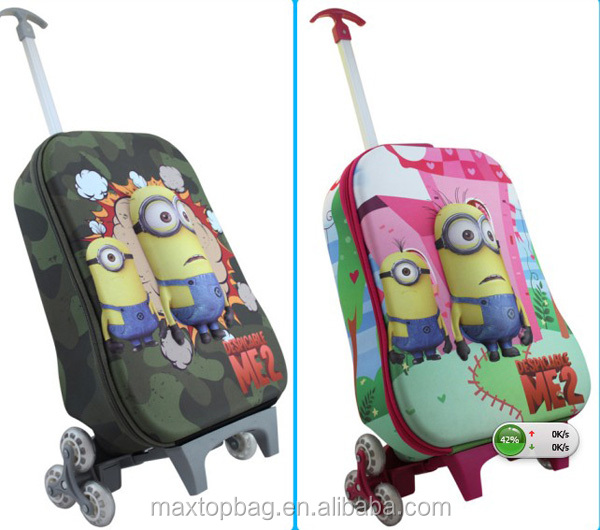 Bsci Facitry Supplying Girls Boy's Eva 3d School Trolley Cases ...