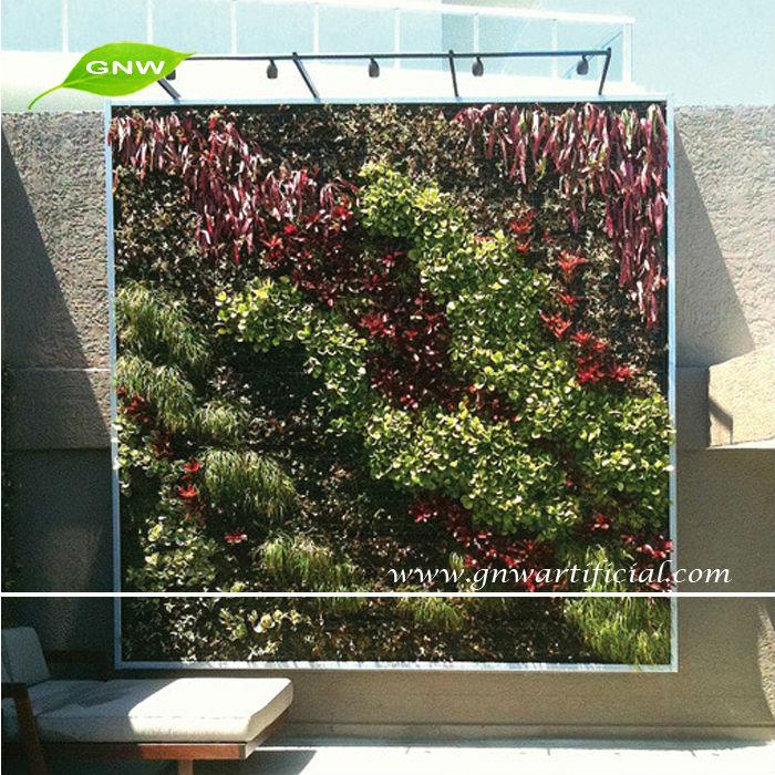 Gnw glw078 planta verde vertical paredes pared colgante for Plantas artificiales para interiores
