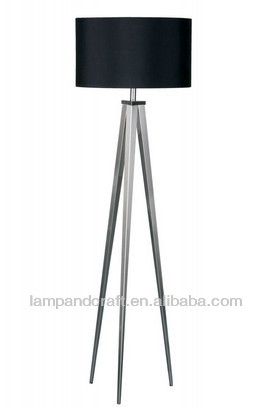 High Quality China Annatto Wooden Three Legged Floor Lamp For ...