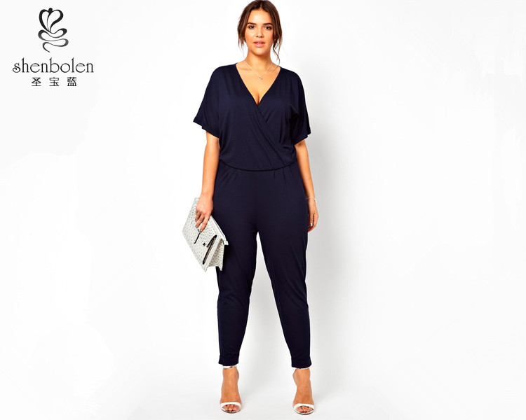 Beautiful Summer Style Rompers Womens Jumpsuit Plus Size Women Clothing For Fat