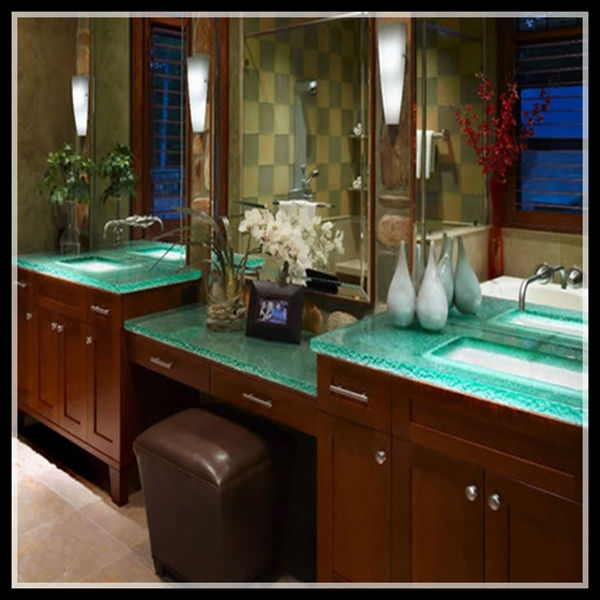 Home Depot Solid Glass Countertop For Bathroom