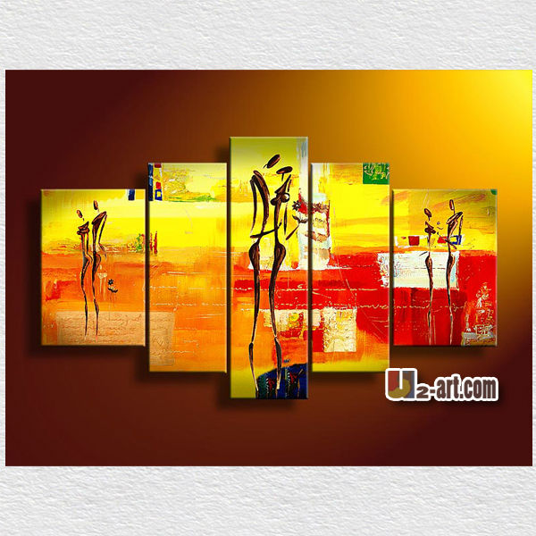 Painting For Bedroom abstract dancer canvas 5 panel painting for bedroom wall
