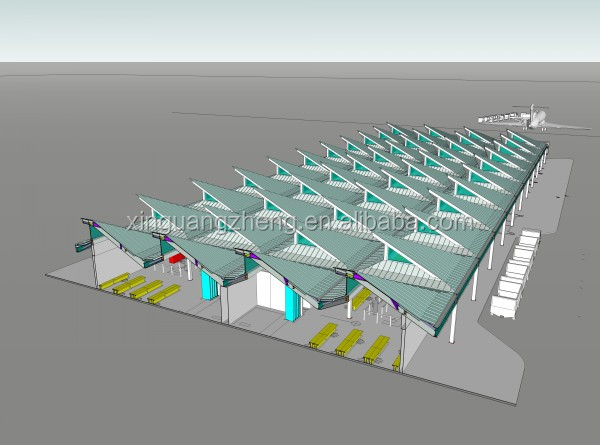 portable steel structure airport terminal\ aircraft hangar