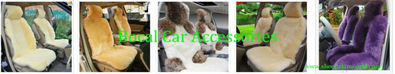 Premium Sheepskin Patchwork Car Seat Cover Shorn Wool