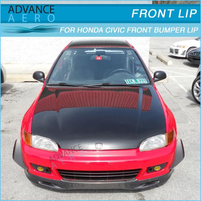 For 92 93 94 95 Honda Civic 2/3dr Spoon Style Carbon Fiber Auto ...