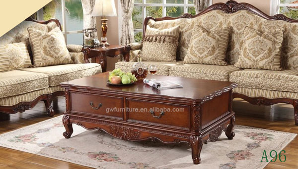 Hand carved classic solid wood living room center table - Wooden center table for living room ...