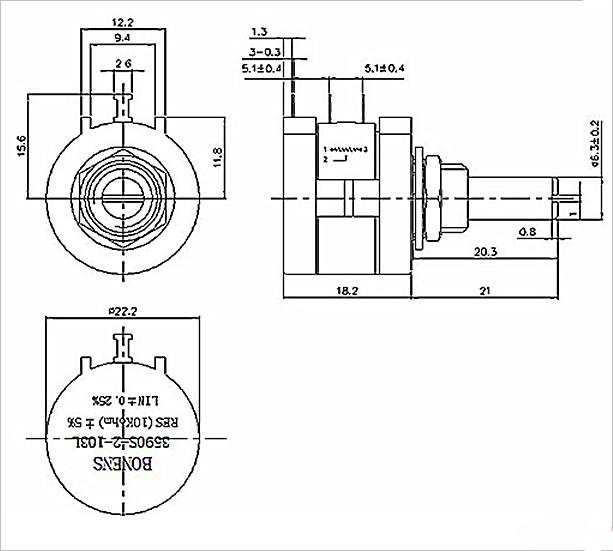 100k Trimpot B104 Ohm Wxd3590 Trimmer Potentiometers Buy