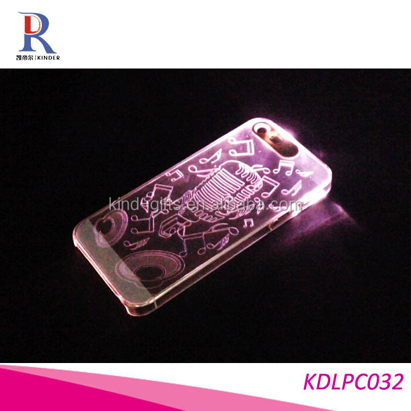 New Sense Butterfly Flash Light LED Color Changing Hard Case