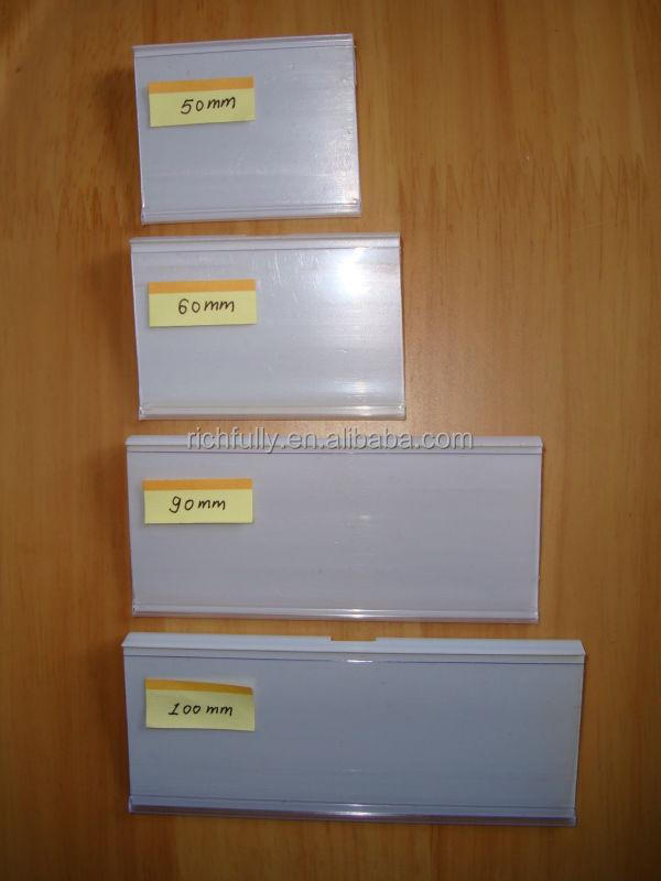 plastic price tags holder for supermarket shelves buy. Black Bedroom Furniture Sets. Home Design Ideas