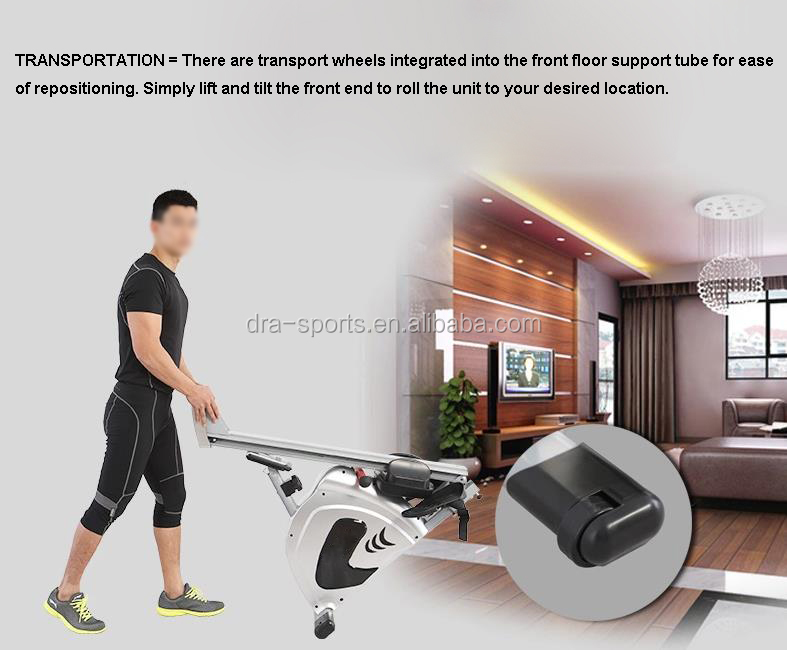 New Dragon Sports Foldable Rower Home Gym Exercise Equipment Semi-Commercial Magnetic Flywheel Rowing Machine RM211