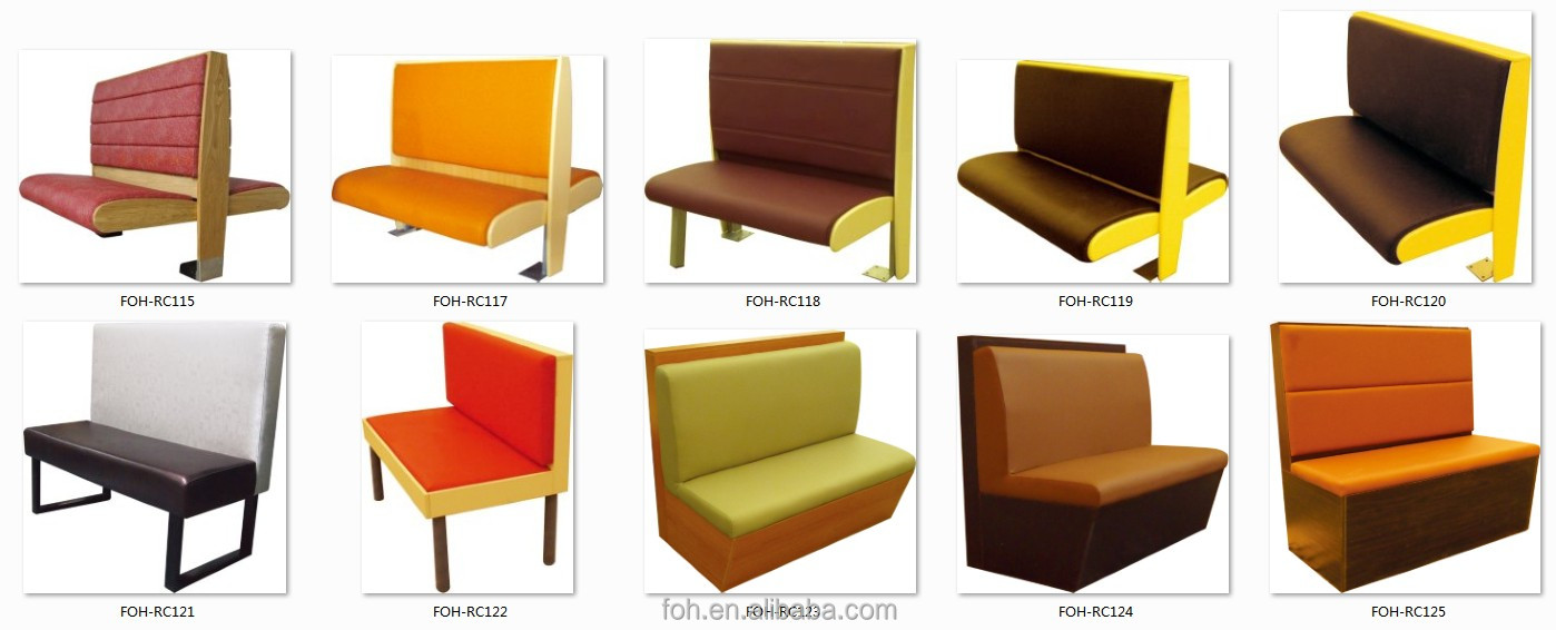 Modern Fast Food Restaurant Furniture Booth Seating And Tables(foh ...