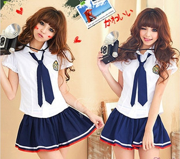 aec2cea2ed1 Hot Sale Japanese Girls Style Students Suits Shirt+Skirt School Uniform  Campus Clothing for High School