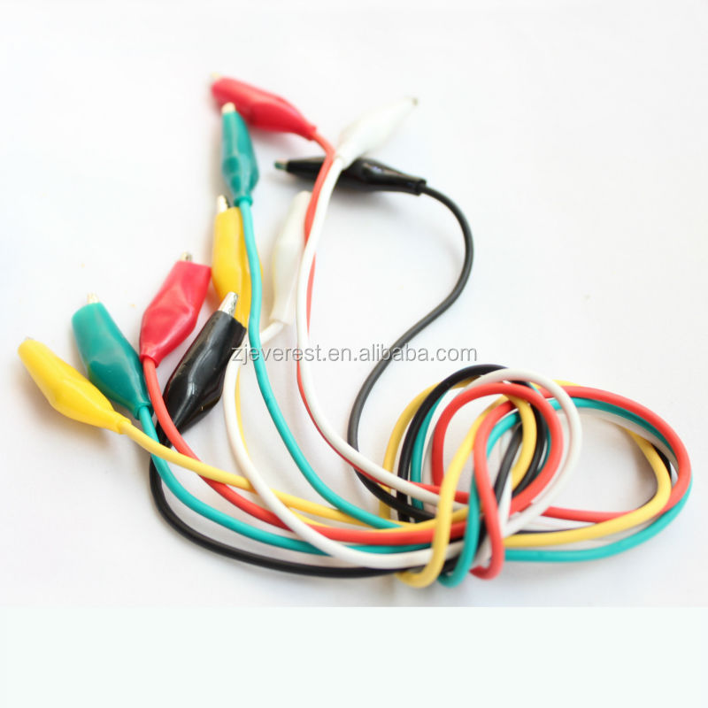 Alligator Wire Clips Battery Power Testing Lead Cable Wire 1.3meter ...