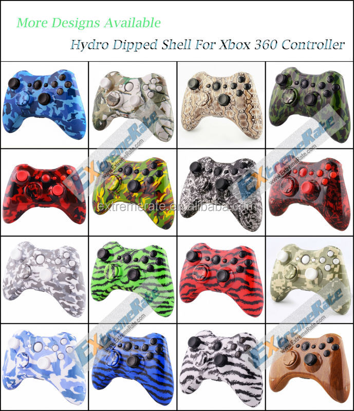 Custom Clear Replacement Shell For Xbox 360 Wireless Controller Mod ...