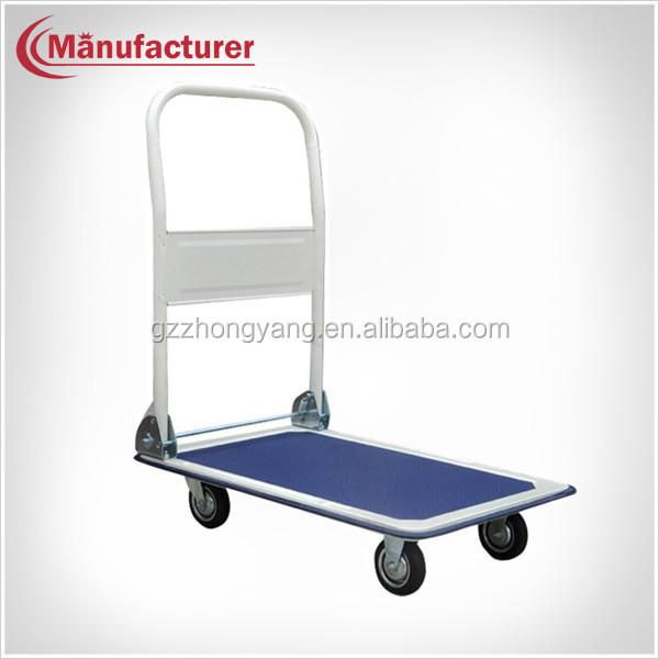 Portable Hotel Stainless Steel Luggage Platform Bellman Trolley ...