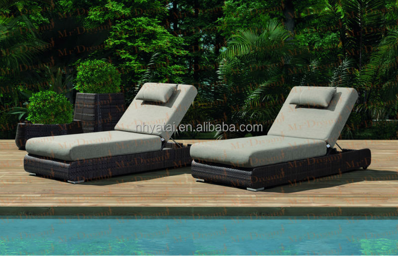 Lounge sofa rattan  MR DREAM outdoor furniture garden rattan chaise lounge sofa bed ...