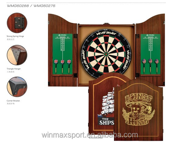 Professional Wooden Dartboard Cabinet,Adult Dart Board,Outdoor ...
