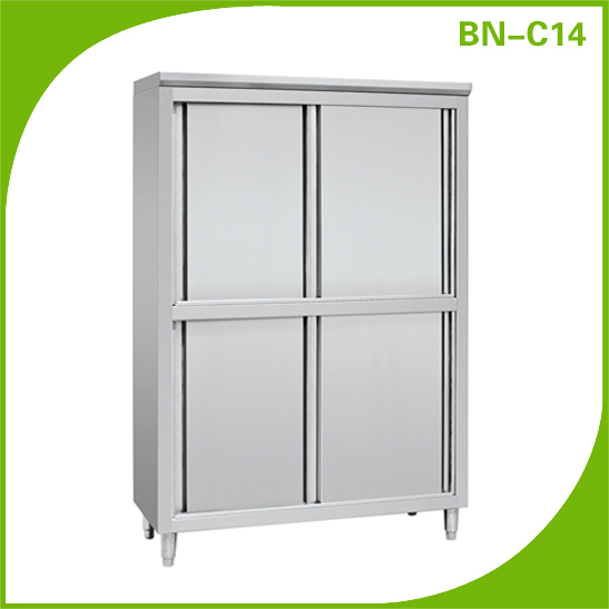Cosbao Upright Stainless Steel Kitchen Display Storage Cabinet ...