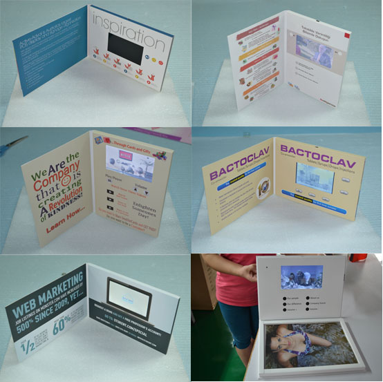Artificial Style and Paper Material 2.4 inch handmade invitation business card video brochure