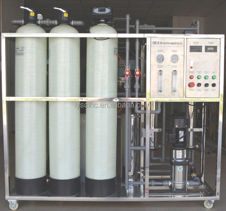Guangzhou manufacturer 250LPH / 500LPH / 1000LPH / 2000LPH RO water plant price with CNP pump and filmtec ro membrane