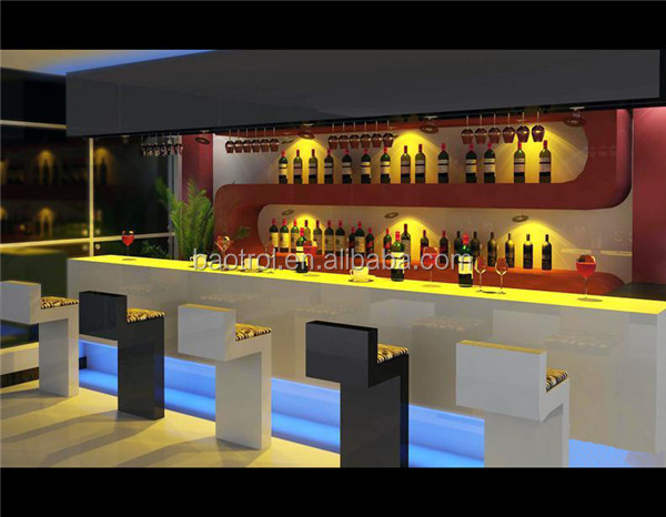Russia Style Commercial Bar Counters Wine Bar Counter Design Wooden Bar  Counter