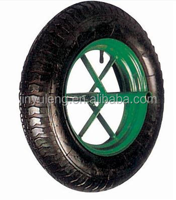 high quality durable 400-8 rubber wheel for hand trolley