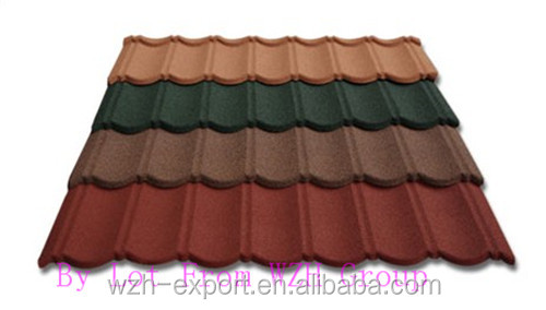 Metal Building Material Stone Coated Metal Roof Tiles