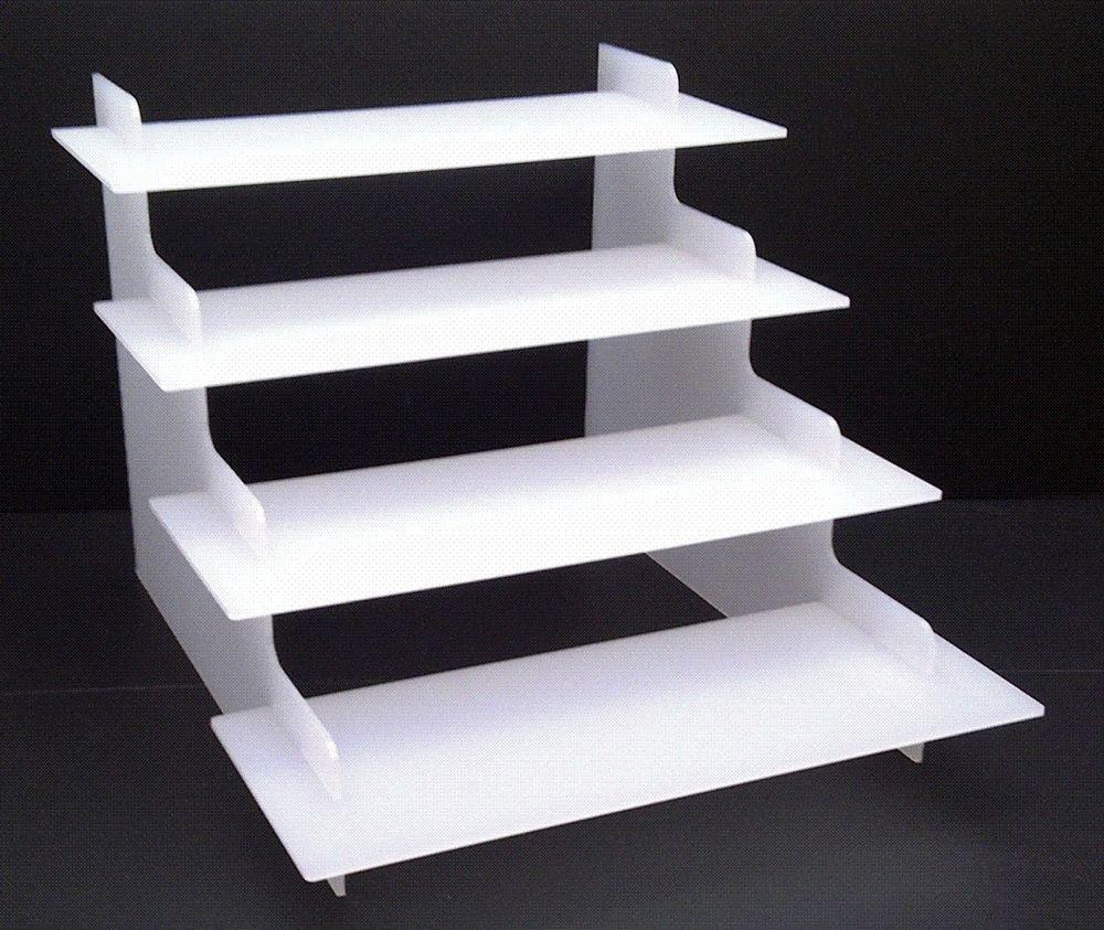 Charming Custom Clear Acrylic Stair Step Display