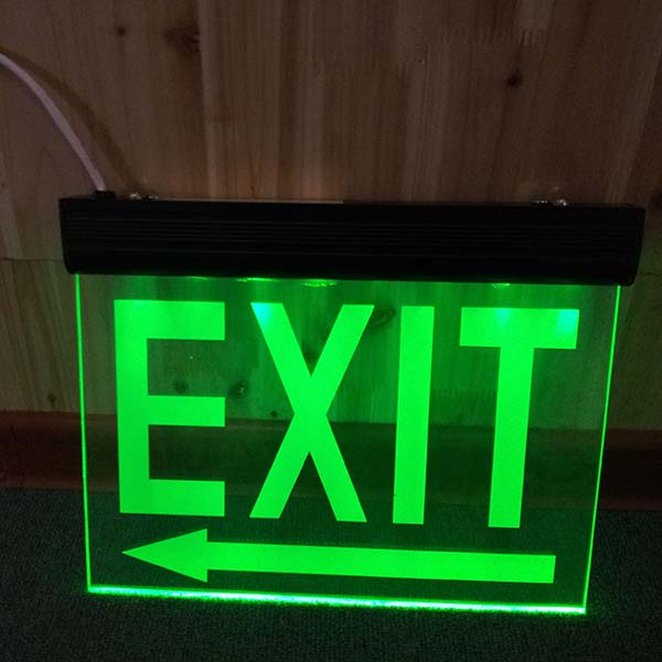 Hanging Led Exit Sign Pictogram Emergency Light Buy