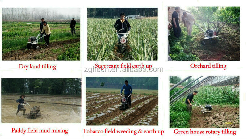 Tennma New 9hp Diesel Agriculture Manual Plough Kama Cultivator ...