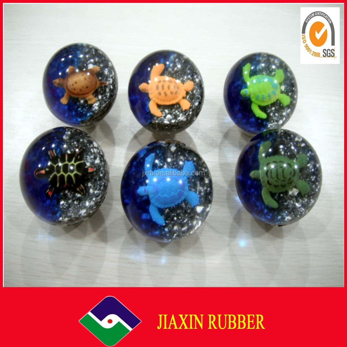 2014 Natural Rubber Ball Pet Toy Ball Rubber Bouncing Ball