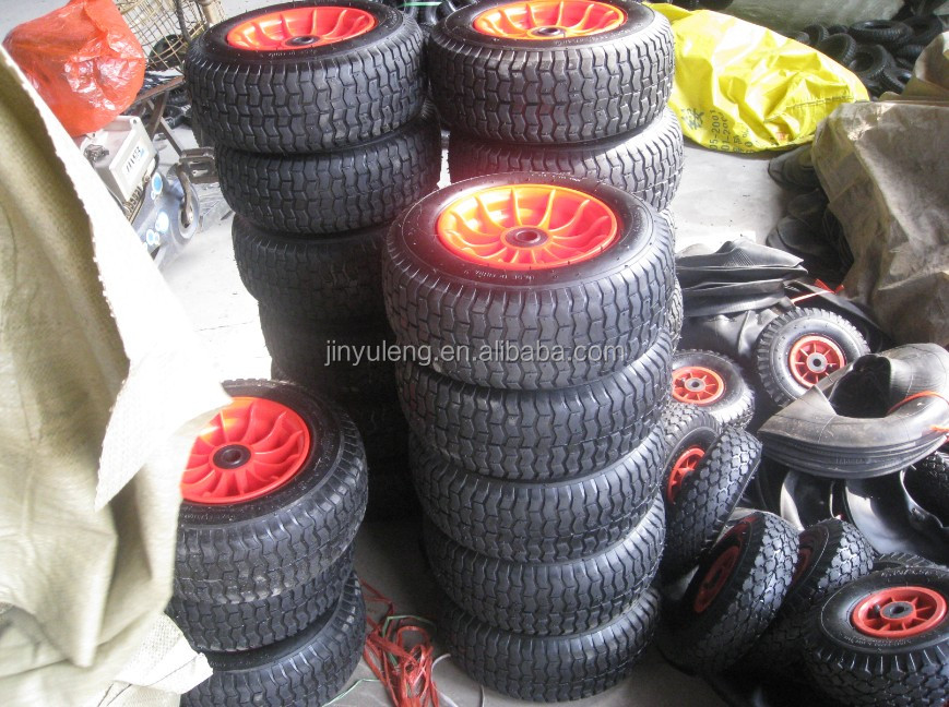 Pneumatic wheels 16 inches 3.50-8,480-8 ,6.50-8 can used for lawn mower,hay mowe,wheelbarrow,hand truck,and Handling equipment