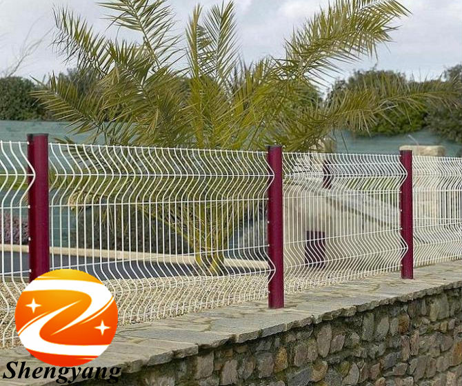 Wholesale Easy Installation Welded Mesh Fences For Park Colored Metal Mesh  Panels For Garden PVC Coated