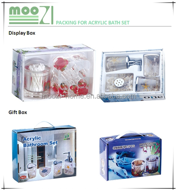 Bathroom Accessories Packaging luxury home decor accessories,high end mirror glass bathroom