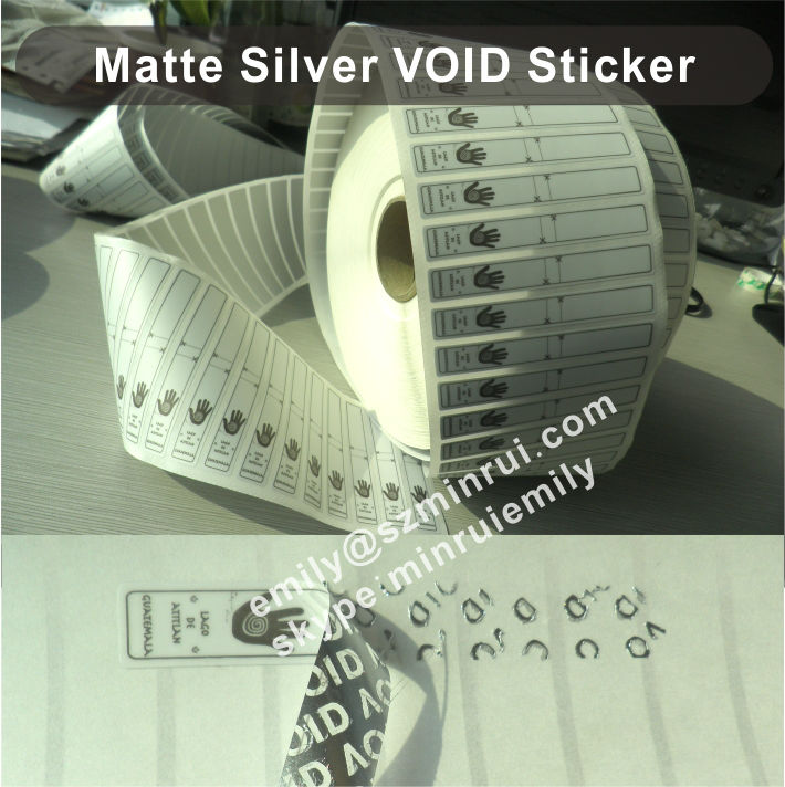 Custom transparent security seal stickers clear security seal stickers clear tamper proof void stickers