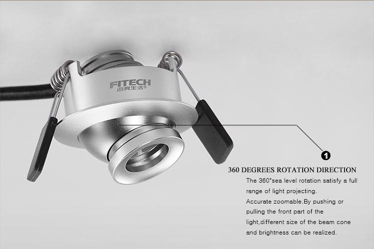 High Quality 1w Mini Led Recessed Spot Lighting Black White ...