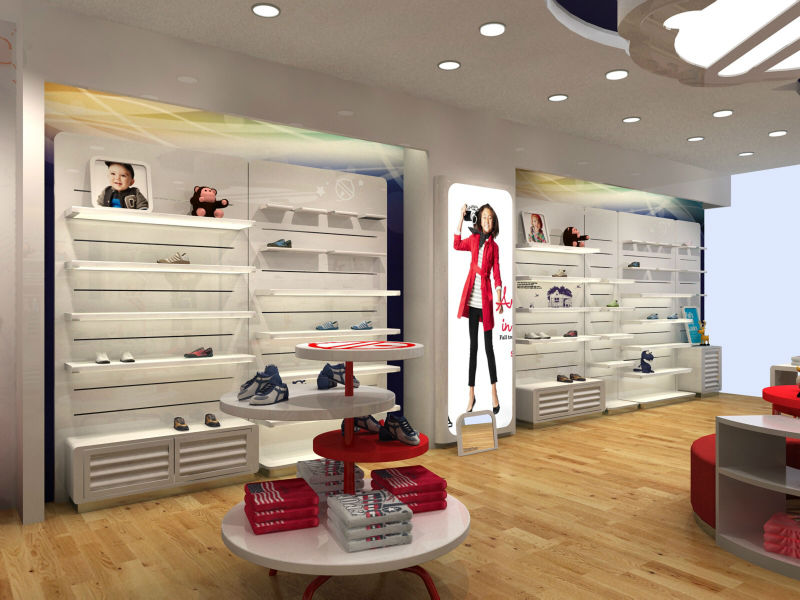 Colorful Wood Retail Baby Clothes Store Interior Design