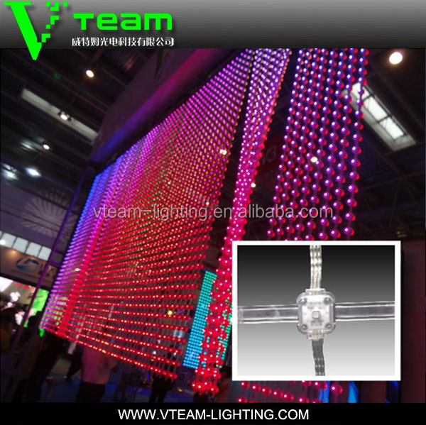 Alibaba China Gdot P40mm Soft Led Curtain For Glass Background ...