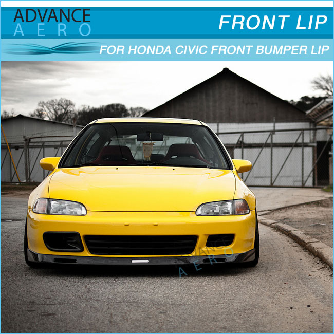 for 92 95 honda civic 2 3dr eg pu bys style front bumper lip spoiler body kits   buy for 92 95