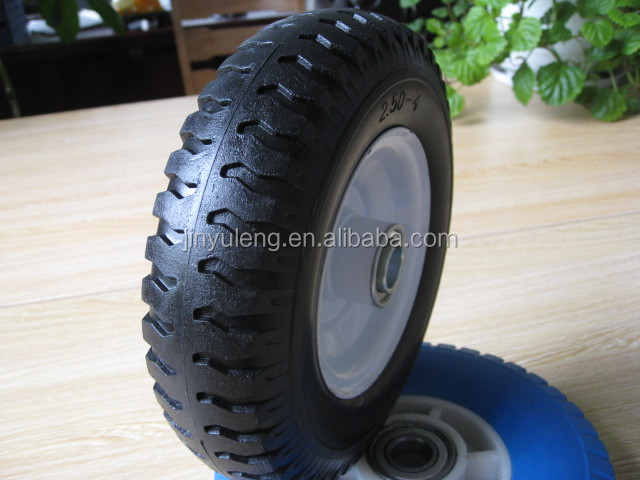 8''250-4 small pu solid rubber wheel,curve for tools,Trailer, castor, godown,parts