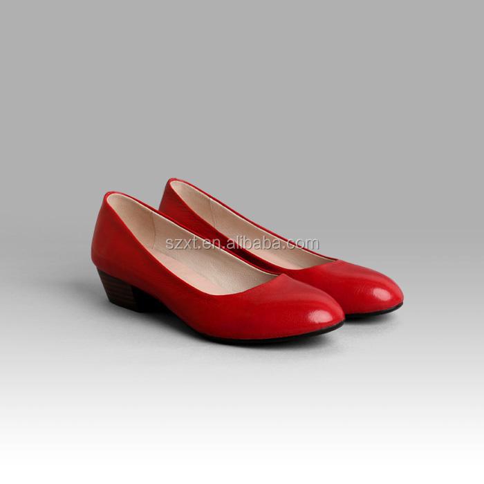 New Designer Women Red Wedding Shoes Comfortable Wear Low Heel