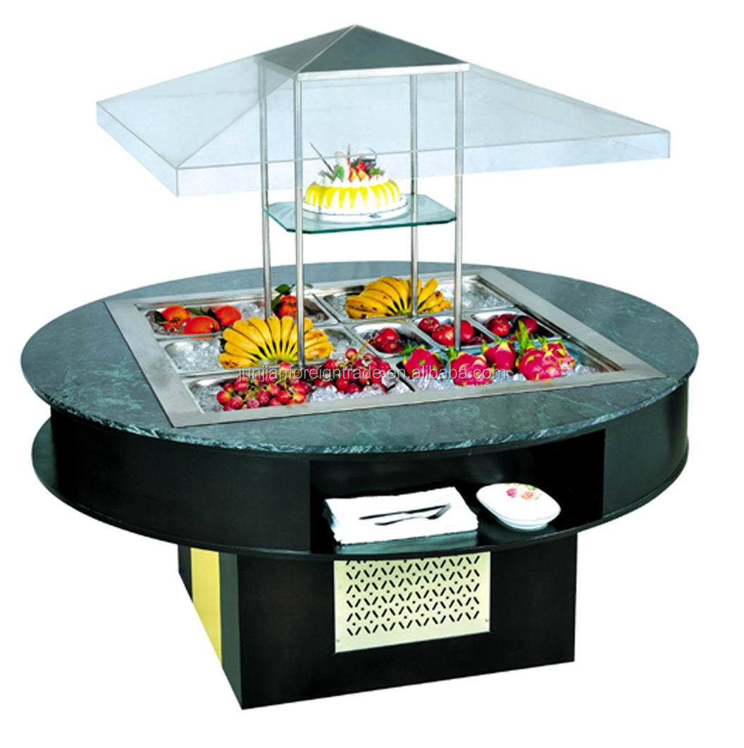 High Quality Salad Bar Commercial Buffet Container Chiller Freezer