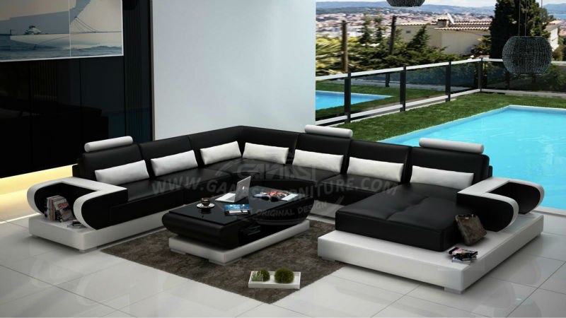 Lobby Leather Sofa Euro Style Fabric Sets Cover