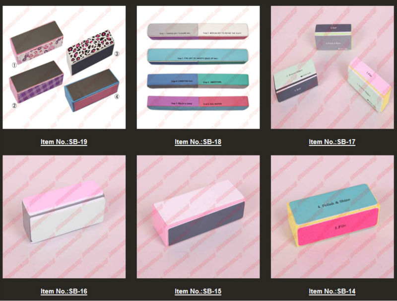 Colorful Shine Buffer Block Nail File Cuboid Acrylic Art Tools