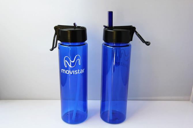 Plastic Drinking Bottle With Straw Sports Water Bottle Bpa