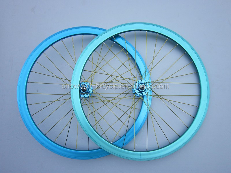 700c Alloy Wheel Rim 40mm Deep Fixie Bicycle Wheel Sets